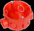 Коробка установочная 80-0500 С безгалогенная (HF) 64х40 с саморезами (224шт/кор) Промрукав