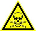 Знак W03 Опасно. Ядовитые вещества (Пластик 200х200х2 мм)