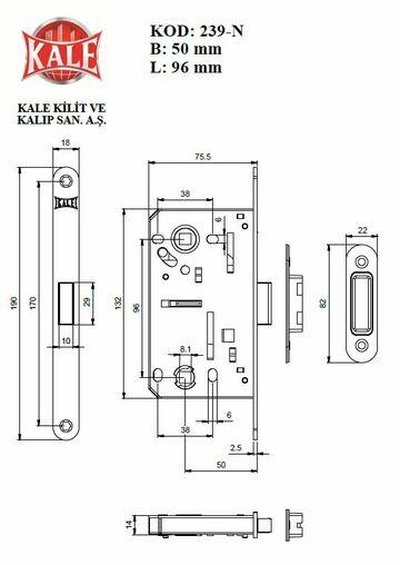 Kale Kilit 239 WC M NI
