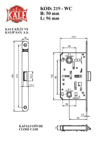 Kale Kilit 219 WC NI