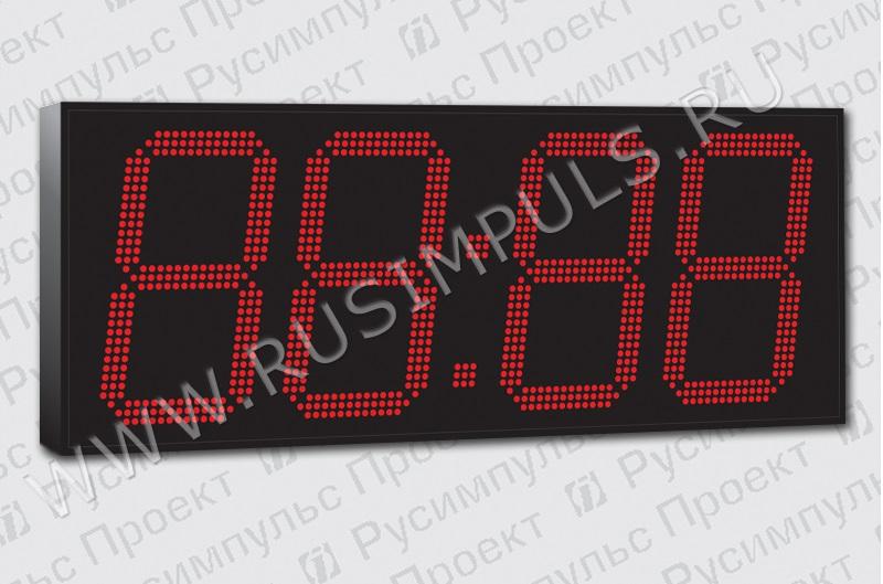 Большие уличные электронные часы-термометр