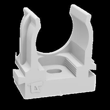 Промрукав Крепеж-клипса для труб для монтажного пистолета серая в п/э д25 (100шт/700шт уп/кор) Промрукав