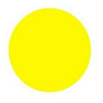 ЗнакПром Знак G7 Осторожно! Препятствие (Жёлтый круг) (Пленка 200х200 мм)